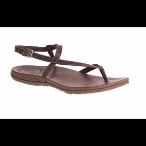 Chaco Rowan Leather Thong Brown Sandal